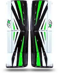 Cool green goalie pads