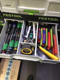 Festool Systainer, Festool Tools, Van Storage, Trailer Storage, Tool Storage, Woodworking Joints, Woodworking Workshop, Garage Organisation, Storage Organization