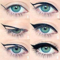 Как правильно красить глаза тенями, карандашом или тушью | LadyWow.ru -  Схема рисования стрелок