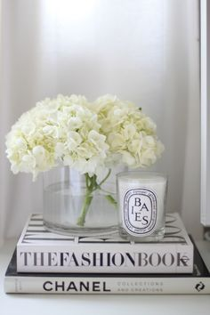 Coffee table chic and dyptique candles