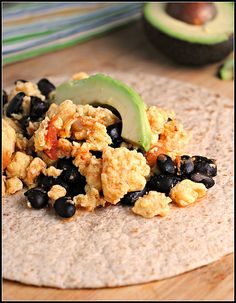Black Bean Breakfast Burrito - Protein, whole grains, and healthy fats make for a balanced morning meal. Easy to take on-the-go!