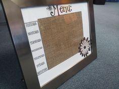 Monica's Menu Board  The Corry Story