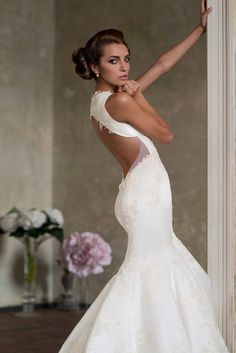 Fabulous Backless Wedding Dress