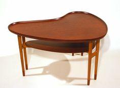 Coffee table by Arne Vodder at DecopediaDesigner: Arne Vodder  ( Denmark , 1926 - 2009 )  Design year: 1950s  Maker: Bovirke (Denmark) Materials: Beech, Teak Measurements: 77 x 97 x 55 cm