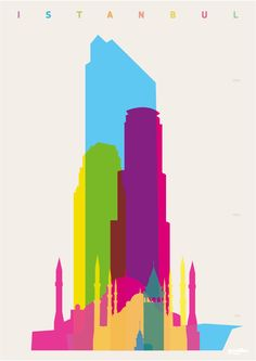 Yoni Alter. Original graphic art. Shapes of Istanbul