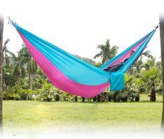2 personas paracaídas ocio exterior hamaca para acampar viaje exterior hamaca de tela de paracaídas para dos personas