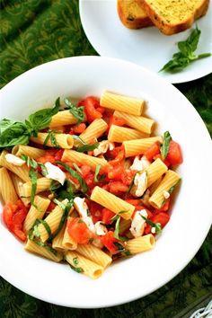 Pasta Caprese » The Curvy Carrot