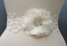 Ivory Lace Bridal Sash Now Available