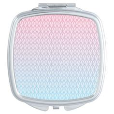 Hot Pink Blue Gradient Oval Pattern Travel Mirrors #pink #blue #pattern #oval #gradient #girly #trendy #white #oudeen #geometric #aztec #abstract #colorful #modern #whimsical #mirror #beauty #accessories #design #gift