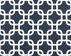 Navy Gotcha Curtain Panels or Valance by DesignsbyChristyS on Etsy, $35.00