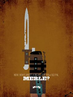 The Walking Dead Merle Minimalist Print by DesignDifferent. I liked merle Walking Dead Tv Show, Walking Dead Zombies, The Walking Dead 3, Merle Dixon, Michael Rooker, Dead Inside, Stuff And Thangs, The Villain, Zombie Apocalypse