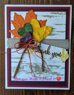 Gather Together Fall Cards Cards Handmade Thank You Cards