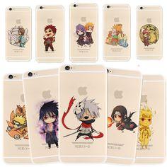 Anime Naruto Kakashi Itachi Soft/Hard Phone Case Cover For Iphone 8/X/6S/7 Plus
