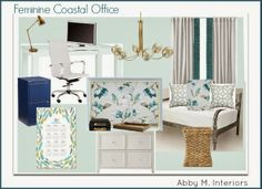 Abby M. Interiors: sources for a home office/guest room on a budget