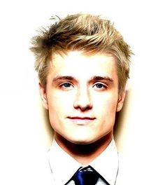 Josh Hutcherson with blonde hair. He honestly looks like a totally different person. I def prefer the brown hair but either eat he's still perf haha