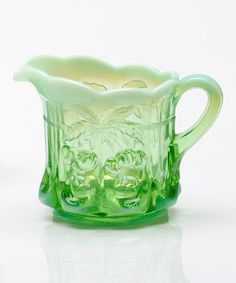 Look at this #zulilyfind! Green Opal Cherry Creamer #zulilyfinds