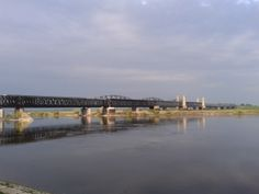 Bridge in Tczew, Vistula river.