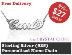 Sterling Silver (925) Personalised Name Chain