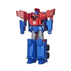 Transformers Robots in Disguise 3-Step Change Optimus Prime Action Figure: Transformers: Amazon.co.uk: Toys & Games