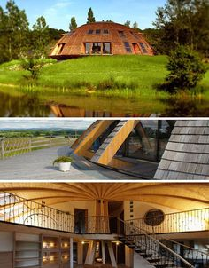 forgó ház, nagyon érdekes -Spinning Eco-Friendly Dome Home Sustainable Architecture, Contemporary Architecture, Sustainable Style, Residential Architecture, Permaculture Design, Earthship, Geodesic Dome Homes, Green House Design, Energy Efficient Homes
