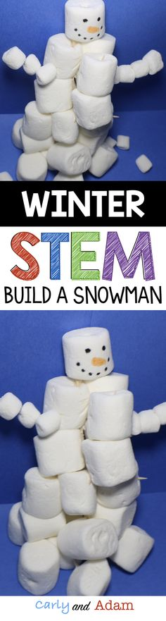 For this winter themed STEM challenge students must build the tallest snowman out of marshmallows and toothpicks. This activity is perfect for a Christmas or holiday party. It would also be the perfect activity to do before or after winter break.