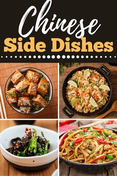 Looking for some incredible Chinese side dishes for your next Asian meal? From flavorful veggies to filling rice and noodle dishes, these recipes are easy to make and sure to please! Chinese Side Dishes, Sesame Tofu, Egg Drop Soup, Cauliflower Bites, Quick Easy Dinner, Dinner Themes, Copycat Recipes, Side Dish Recipes, Meatloaf
