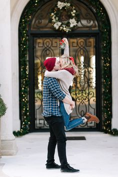 Photography: Kayla Snell  - http://www.stylemepretty.com/portfolio/kayla-snell-   Read More on SMP: http://www.stylemepretty.com/2015/12/10/smp-blogger-bride-livvyland-shares-how-to-get-the-perfect-mistletoe-photo/