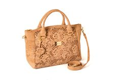 Cork bag - AVEIRO Platinized Brown