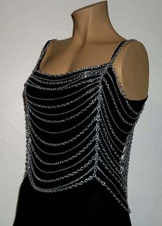 Chain mail Chainmail Top Body chains by KattsChainCreations, $45.00
