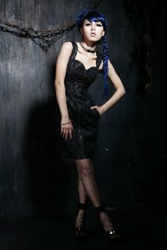 punk rave Q-175 black military dress with sweet heart neckline One Peace 4a5d667e87b5