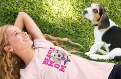 Beagle Mom Shirts - Many Colors and Styles, Hoodies, Coffee Mugs, Beagle Mom Necklaces, Blankets, Tote Bags, Mouse Pads and More...