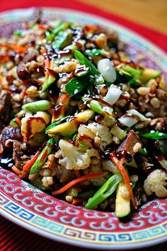 This Barley Stir Fry with Baby Back Pork Ribs and Steamed Vegetables is a quick and savory dinner made with leftover BBQ rib meat, vegetables and steamed barley. Hoisin sauce drizzled on top with green onions and sesame seeds finishes it off beautifully.