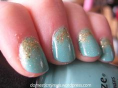 Mermaids Tail - China Glaze For Audrey, Blonde Bombshell, and Golden Enchantment.