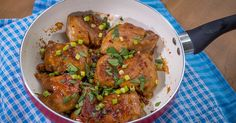 This dish might be simple to make, but there is nothing simple about its flavor!  Sweet and Salty Chicken Thighs