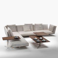 Sofá Evergreen diseñado por Antonio Citterio para la firma Flexform.