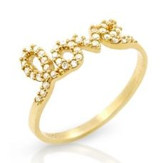 Amazon.com: Sterling Silver Yellow Gold Plated Infinity Love Promise Ring: Jewelry