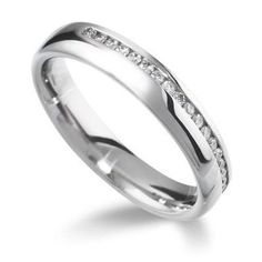 Side Channel Half Eternity Ring
