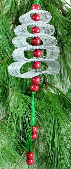 DIY Christmas Ornament #4 • Loop Tree...Sue 2012