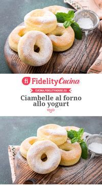 Baked yogurt donuts- Ciambelle al forno allo yogurt Baked yogurt donuts - Brunch Recipes, Sweet Recipes, Dessert Recipes, Great Desserts, Light Recipes, Cooking Time, Love Food, Cookie Recipes, Food And Drink