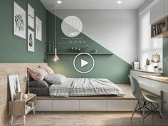Colorful interior with connection: green, coral, blue & yellow decor . - Colorful interior with connection: green, coral, blue & yellow decor -