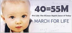 Time to start making plans for the annual March for Life in Washington, DC. In 2014, the march will be held on January 22, 2014. Click on photo here for more info.