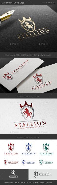Stallion Horse Shield Crest Logo Template #design #logotype Download: http://graphicriver.net/item/stallion-horse-shield-crest-logo/11212129?ref=ksioks