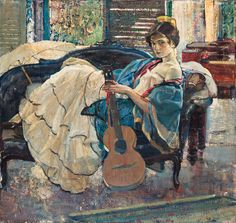 String Artist by Richard Emil Miller (1875-1943) American Impressionist Painter | Flickr - Photo Sharing!