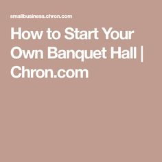 A Sample Banquet Hall Rental Business Plan Template - Banquet hall business plan template