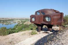 Steel House | Ransom Canyon, Texas | Robert Brunos | photo by metroblossom, via Flickr