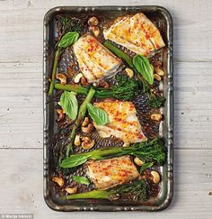 Recipe By Sarah Wilson who quit sugar.Spicy fish with tenderstem, I Quit Sugar recipe