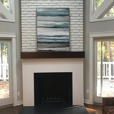 New Free of Charge Fireplace Mantels with hearth Popular Custom fireplace mantel with drop front shelf media storage Distressed Fireplace, Custom Fireplace Mantels, Wood Mantels, Fireplace Mantle, Fireplace Ideas, Modern Fireplace, Mantel Shelf, Wood Brackets, American Walnut