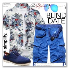 """""""Casual Dress to Impress: Blind Date"""" by jecakns ❤ liked on Polyvore featuring men's fashion and menswear"""