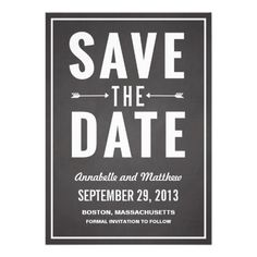 Bold Chalkboard Save the Date Announcement
