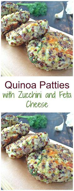 This make in advance healthy quinoa patties recipe will serve a s a great vegetarian lunch or dinner. #quinoa #quinoapatties #quinoadishes